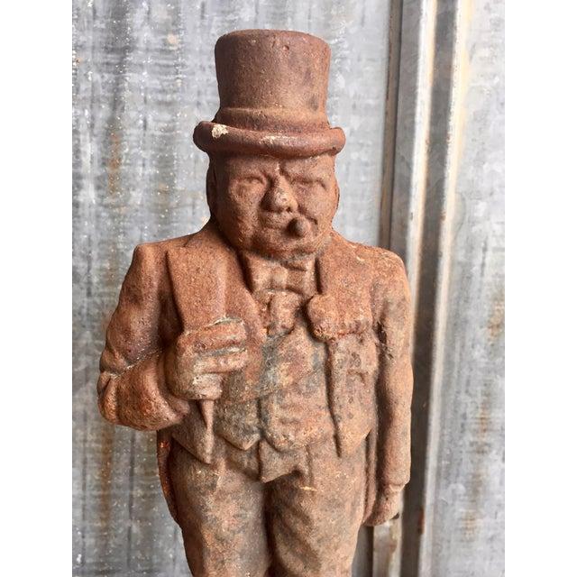Antique Winston Churchill Cast Iron Andirons - A Pair - Image 3 of 10