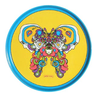 Peter Max Butterfly Tray