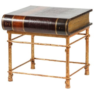 Maitland Smith Leather Book Side Table