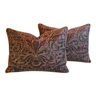 Italian Mariano Fortuny Caravaggio Feather & Down Pillows - A Pair