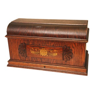 Antique Singer Wood Sewing Machine Cover