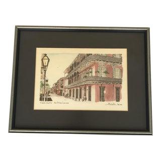 Vintage Andrew Dedula Signed New Orleans Print