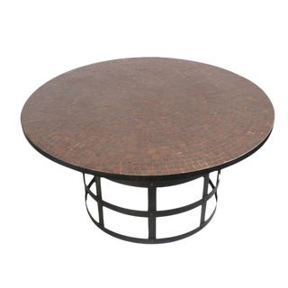 Round Mosaic Tile Dining Table