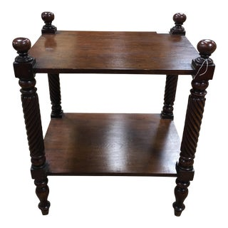 Antique Mahogany Two Tiered Side Table