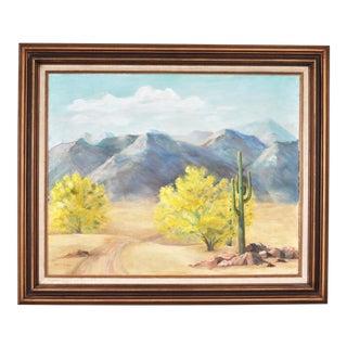 Southwestern Desert Landscape Oil Painting