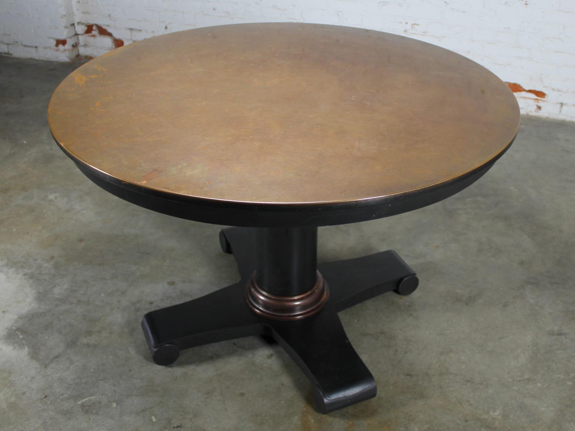 Contemporary Round Copper Top Dining Table Chairish : 5d49c4e3 ba69 47e9 8a2e 85c3e656553easpectfitampwidth640ampheight640 from www.chairish.com size 640 x 640 jpeg 32kB