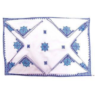 Fez Tray Needlepoint Linen & Napkins - Set of 7