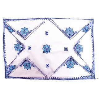Fez Tray Needlepoint Linen & Napkins - Set of 7