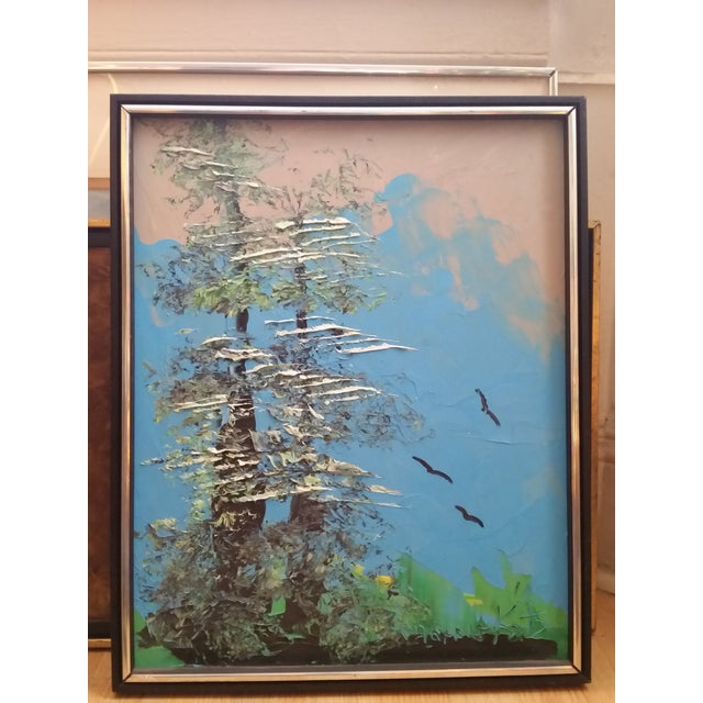Image of Signed Morris Katz Forest Landscape Oil Painting
