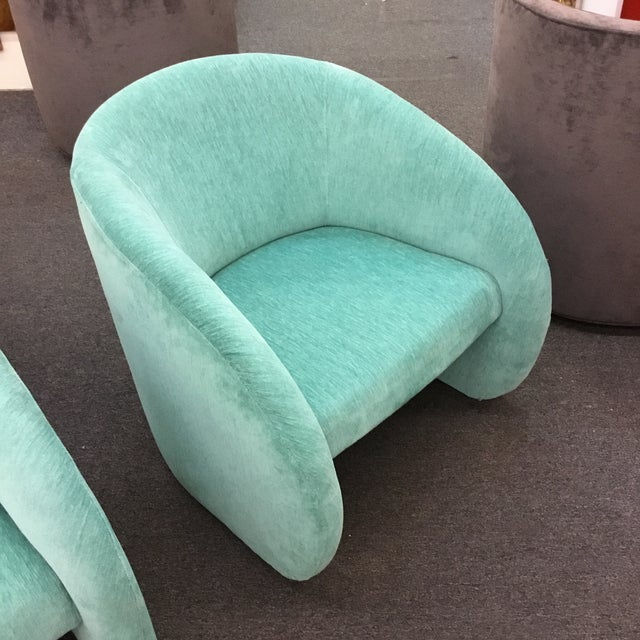 Mid-Century Modern Turquoise Chairs - Set of 2 - Image 3 of 5