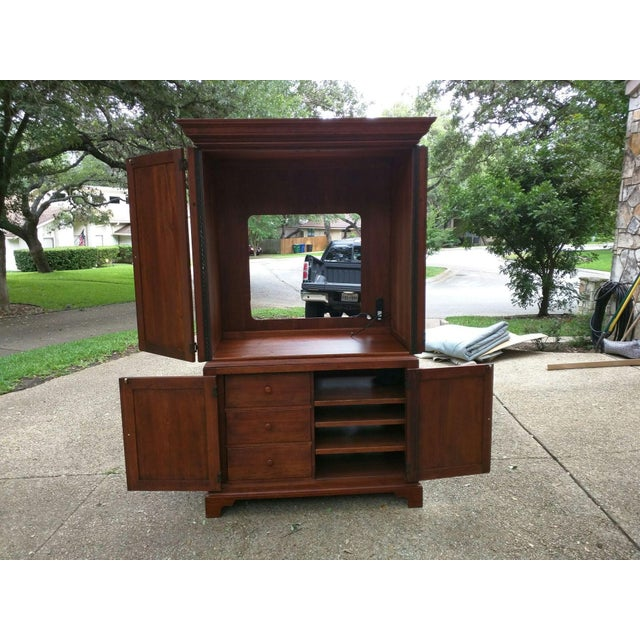 Solid Wood Tv Armoire ~ Solid wood armoire tv cabinet chairish