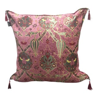 "Authentic Kilim Patterned 26"" x 26"" Rose Pink Pillow Cover"