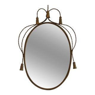 Hollywood Regency Gilded Frame Floral Mirror