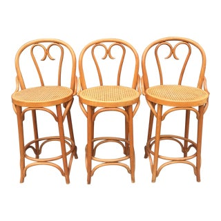 Romanian Bentwood Style Counter Stools - Set of 3
