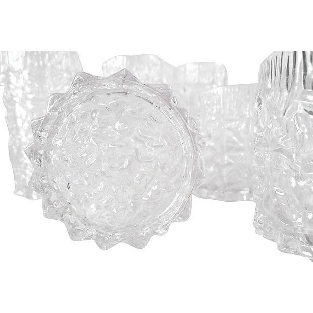 Lucite Icicle Glasses - Set of 8 - Image 2 of 5