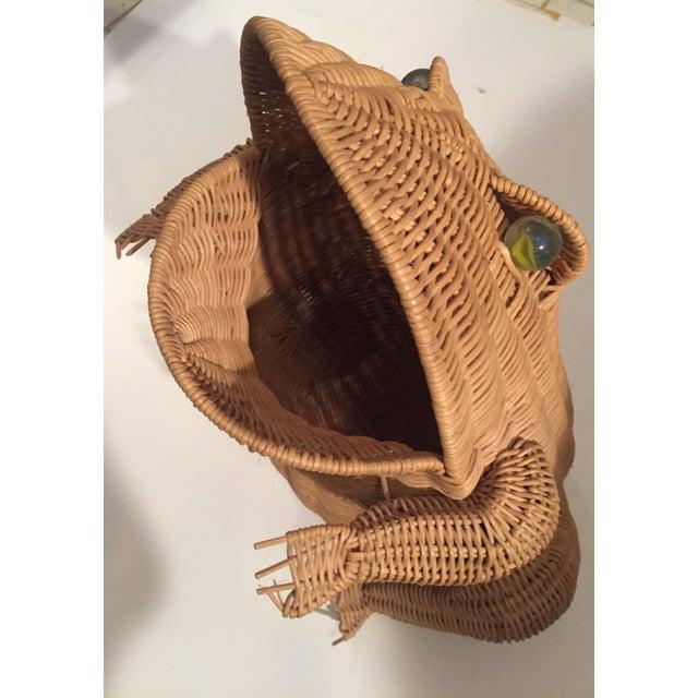 Vintage Wicker Frog Basket - Image 2 of 4