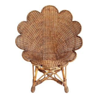 Rattan Antiqued Shell Chair