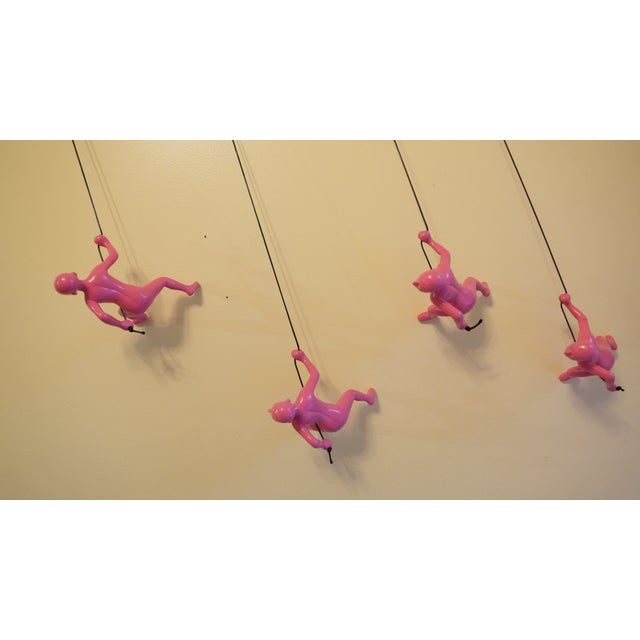Pink Climbing Man Wall Art - Set of 4 - Image 7 of 7