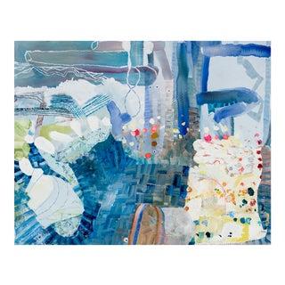 Grass Blue, 2017 Oil on panel by Josette Urso.