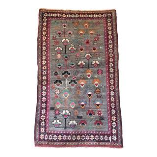 "Vintage Pink & Gray Wool Gabbeh Rug - 3'3"" X 5' 5"""