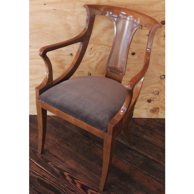 "Empire ""Chaise en Gondole"" Fruitwood Baker Dining Chairs - Set of Four - Image 5 of 8"