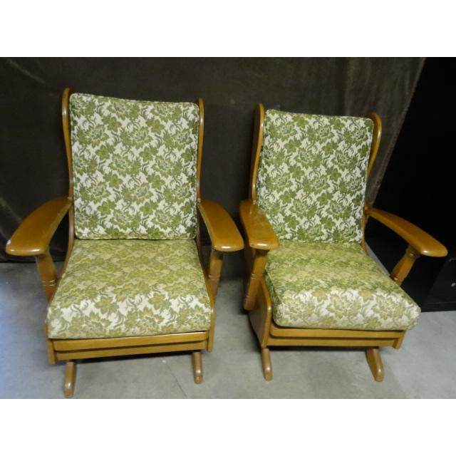 Mid-Century Cushman Style Colonial Platform Rocking Chairs - A Pair - Image 2 of 8