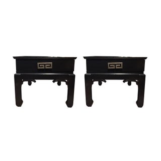 James Mont Ming Style Lacquered Tables - A Pair