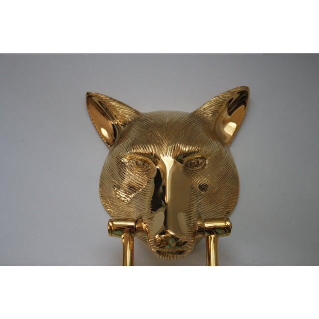 Image of Solid Brass Fox Head Door Knocker