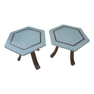 Harvey Probber Terrazo Hexagonal Side Tables - 2