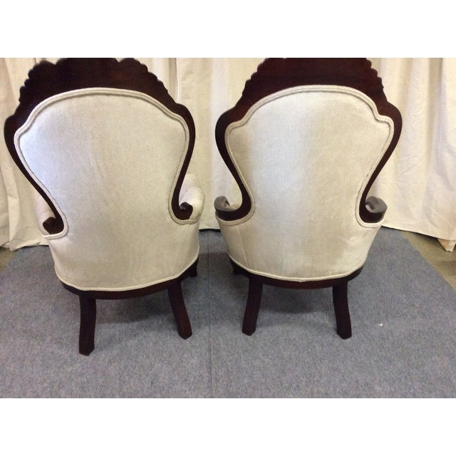 Wooden Victorian Chairs - Pair - Image 5 of 11