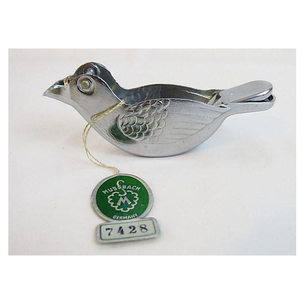 Image of WW II Era Silver-Plated Bird-Shaped Juicer