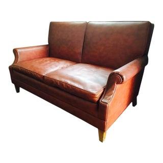 Mid-Century Brown Naugahyde Sofa