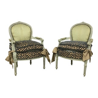 Antique Louis XVI Side Chairs- A Pair