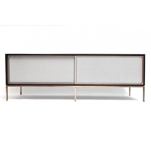 Customizable re: 379 Ebonized Walnut and Painted Cane Credenza - Image 2 of 3