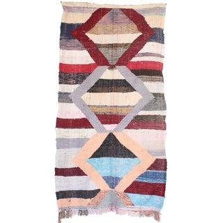 Moroccan Kilim Boucherouite - 4′5″ × 8′2″