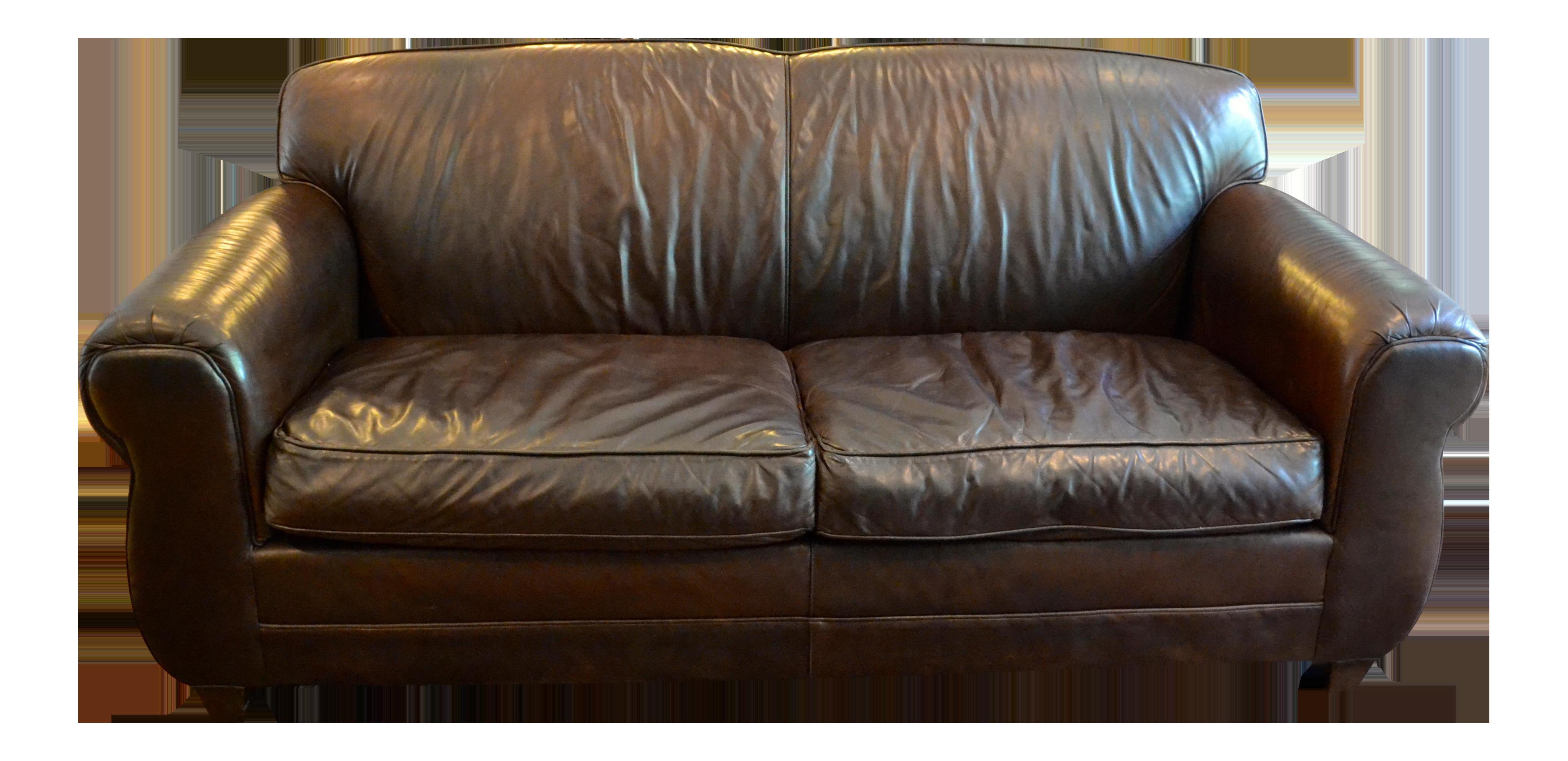 restoration hardware morgan leather loveseat