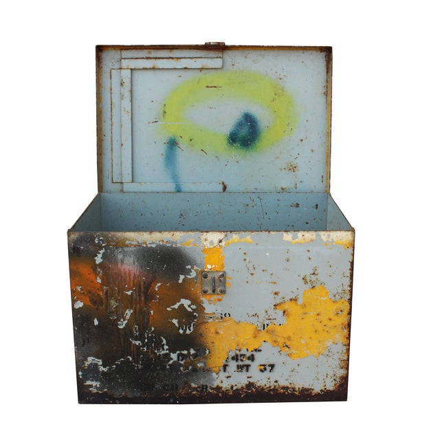 Yellow Metal Trunk - Image 3 of 3