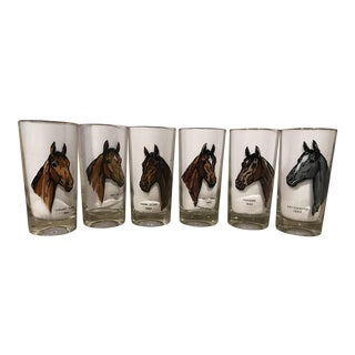 Kentucky Derby Vintage Winning Horse Glasses - Set of 6