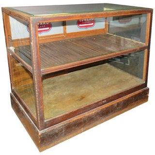 Antique Tobacco Store Humidor Floor Display Case