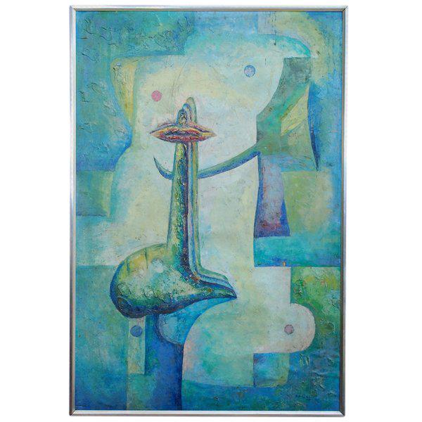 Image of Latin American Abstract Surrealist Original Painting