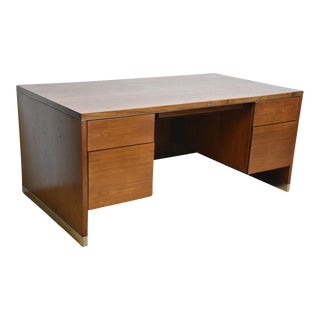Mid-Century Modern Walnut & Chrome Desk