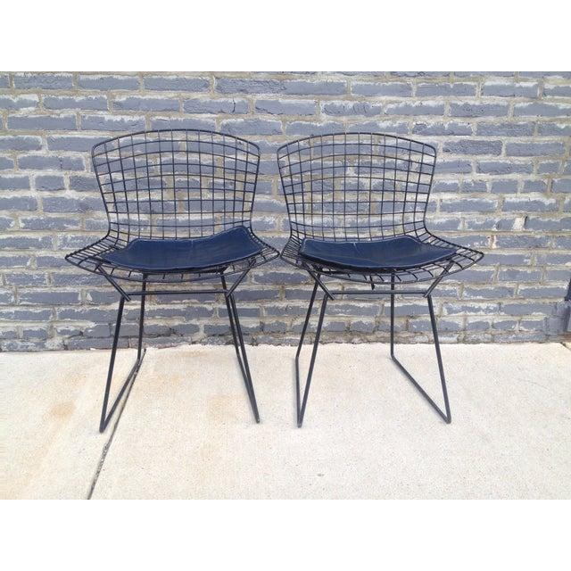 Harry Bertoia Black Side Chairs - Pair - Image 6 of 7