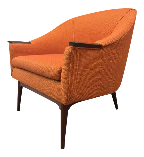 Danish Mid Century Modern Lounge Chair Manner Of Hans Olsen   Image 1 Of 5