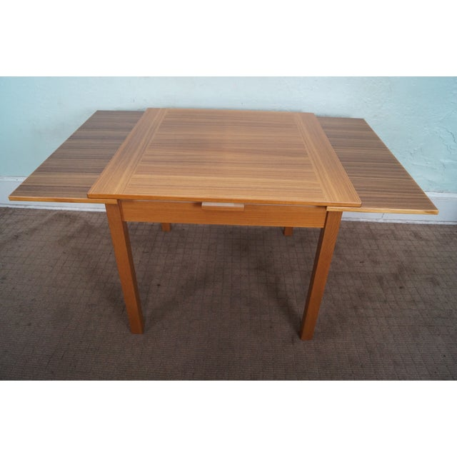 Danish Modern Teak Refractory Square Dining Table - Image 3 of 10