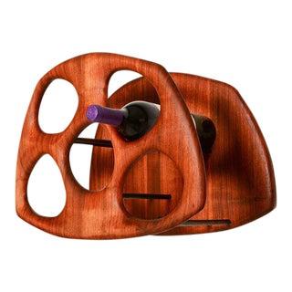 California Modern Walnut Wine Holder
