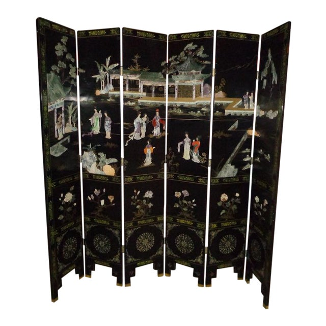 Maitland Smith Asian 6 Panel Screen - Image 1 of 5