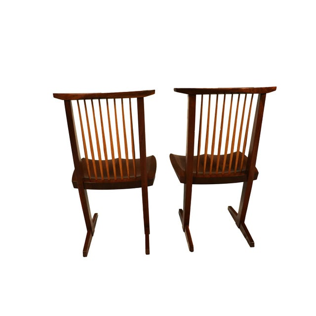 George Nakashima Conoid Chairs - A Pair - Image 5 of 11