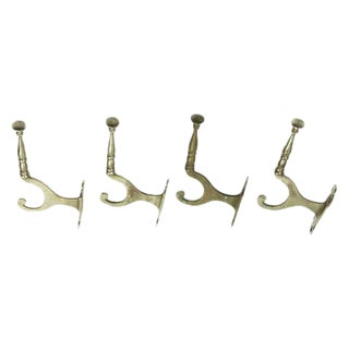 Traditional Metal Wall Hooks - Set of 4