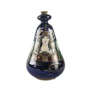 "Circa 1900 Amphora Turn Teplitz Rstk ""Lady of the Lake"" Portrait Vase"
