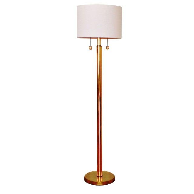 Vintage Kovacks Monumental Brass Floor Lamp - Image 1 of 2